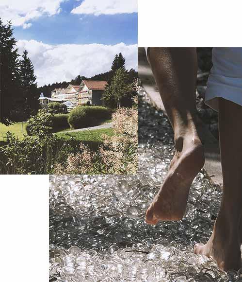 Wellnessurlaub im Bayerischen Wald - Barfussweg der Sinne inklusive