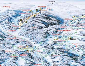 Skilanglauf Bayerischer Wald - Übersichtskarte