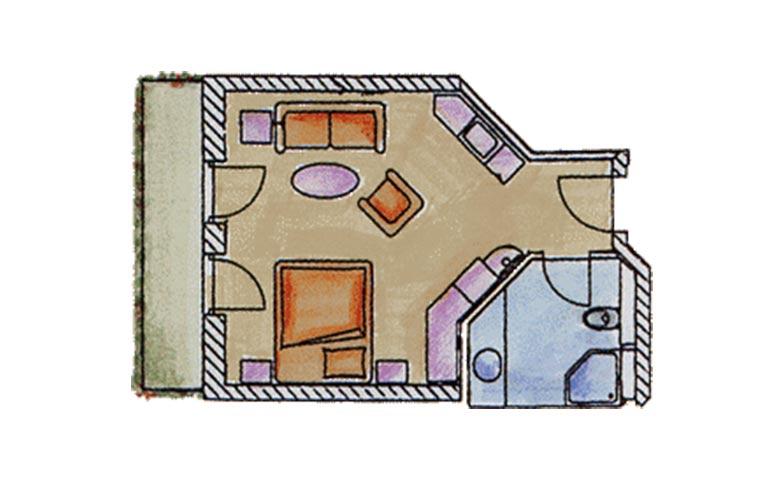 Doppelzimmer Landhaus im Angerhof Grundriss