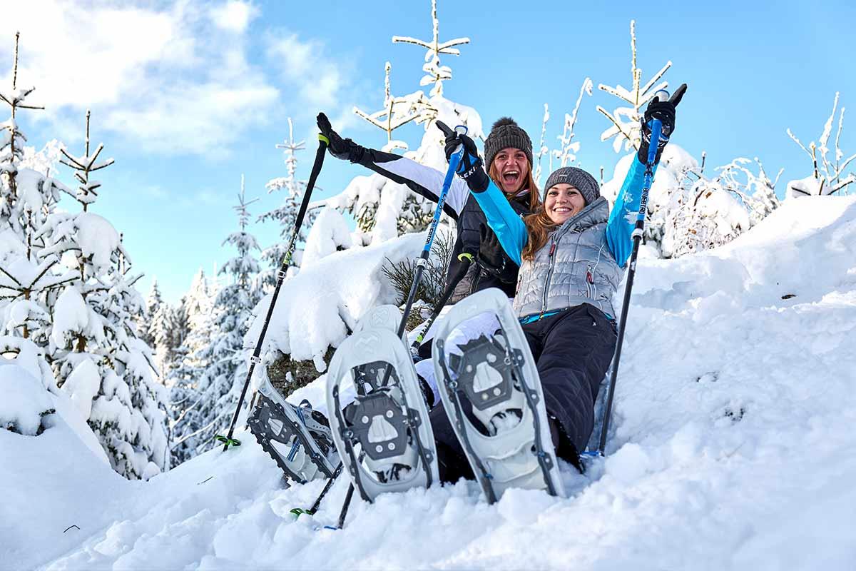 Schneeschuhspass im Bayerischen Wald